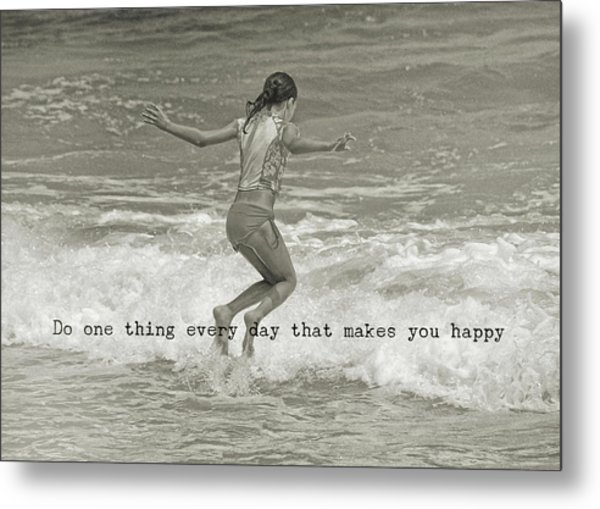Wave Jump Quote Metal Print by JAMART Photography