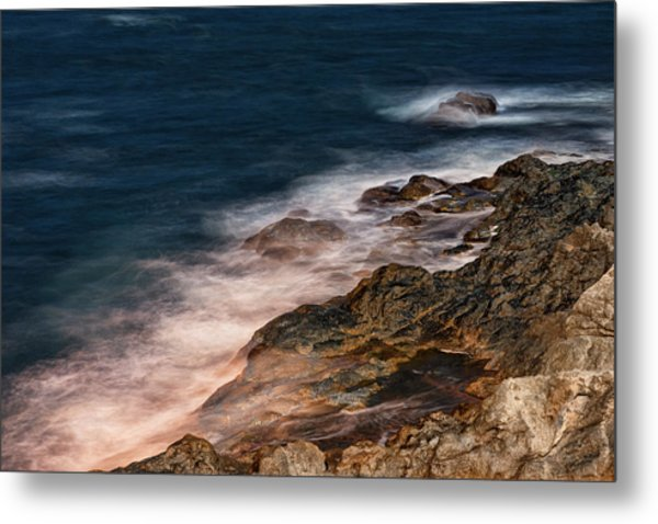 Waves And Rocks At Sozopol Town Metal Print