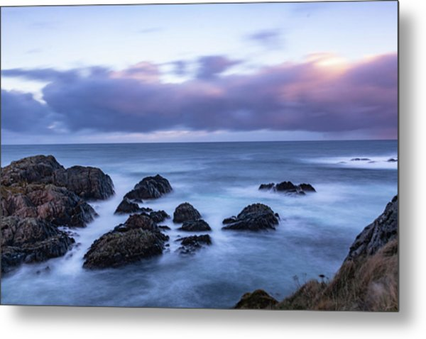 Waves At The Shore In Vesteralen Recreation Area Metal Print
