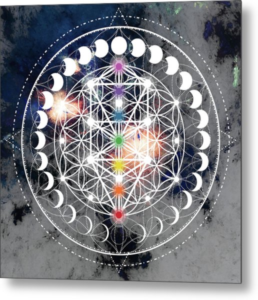 Metal Print featuring the digital art We Are Beings Of Light by Bee-Bee Deigner