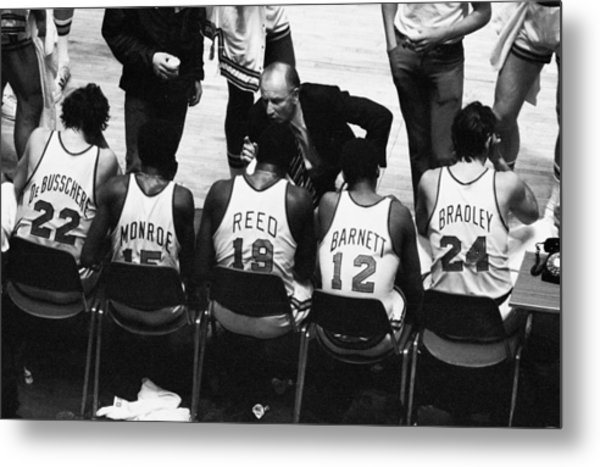 We Prefer Knicks 2 To 1. Coach Red Metal Print by New York Daily News Archive