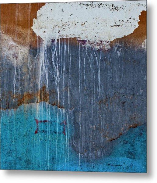 Weathered Paint Detail Metal Print