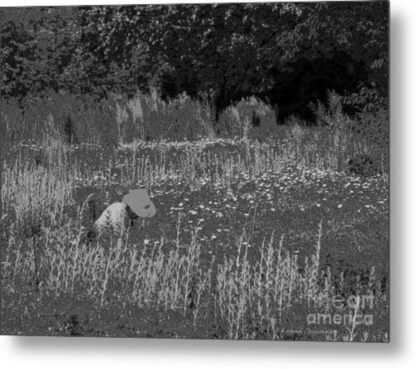Weeding The Garden Metal Print