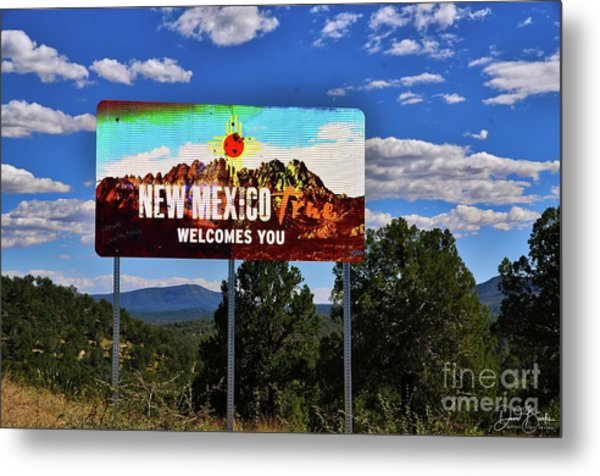 Welcome To New Mexico Metal Print by David Burks