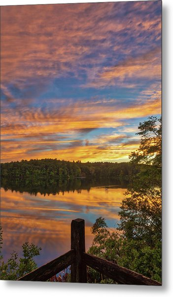 Metal Print featuring the photograph Wellesley College Sunset by Juergen Roth