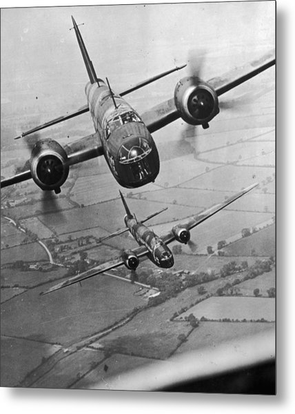 Wellington Bombers Metal Print by Topical Press Agency