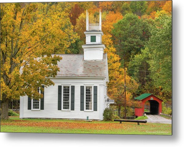 Metal Print featuring the photograph West Arlington Vermont Village Green by Expressive Landscapes Fine Art Photography by Thom