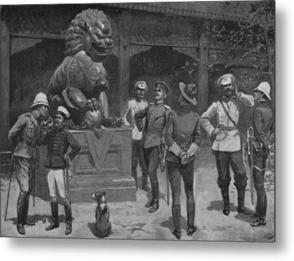 Westerners At The Gates Metal Print by Hulton Archive