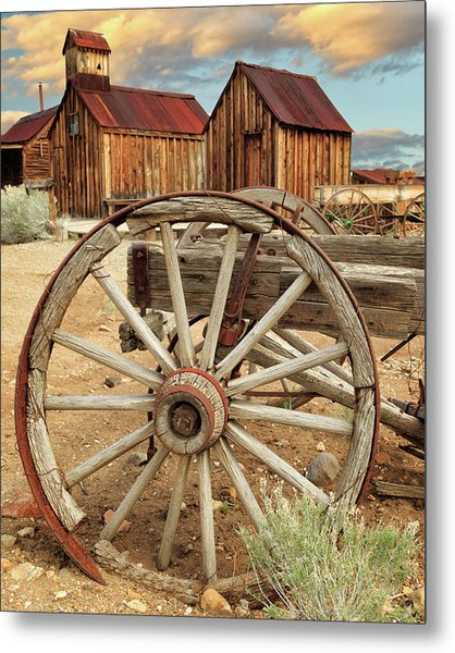 Wheels And Spokes In Color Metal Print