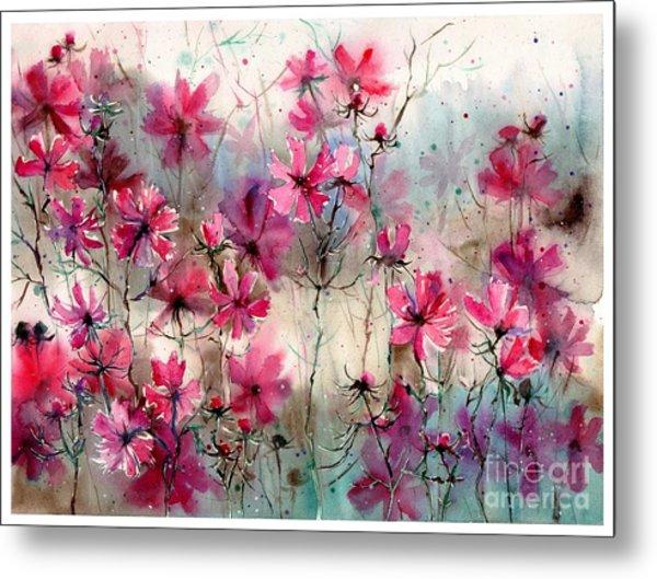 Where Pink Flowers Grew Metal Print