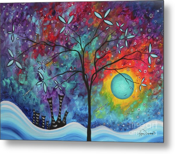 Whimiscal Abstract Original Painting Tree Art By Megan Duncanson Madart Metal Print