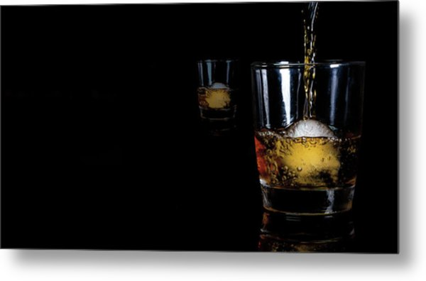 Whisky On Ice For Two Metal Print