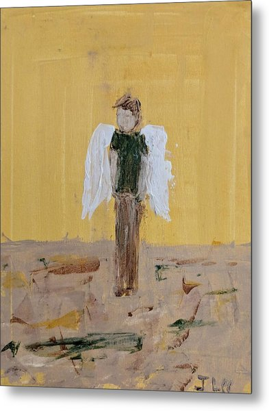 Whistling Angel Metal Print
