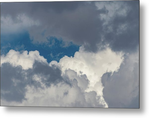 White And Gray Clouds Metal Print