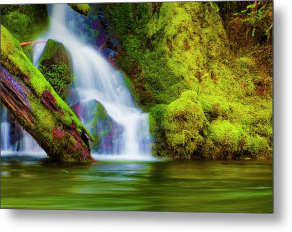 White Cascade Into The Salmon River Metal Print