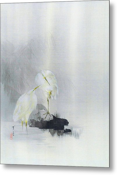 White Egret - Digital Remastered Edition Metal Print