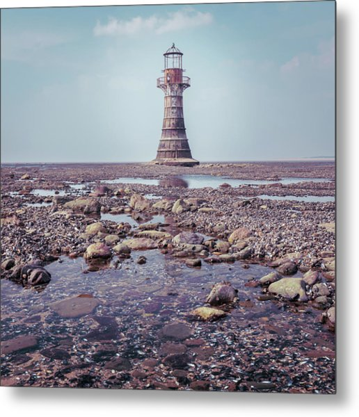 Metal Print featuring the photograph Whiteford Point Lighthouse by Elliott Coleman
