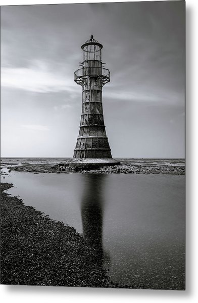 Metal Print featuring the photograph Whiteford Point Lighthouse Reflections by Elliott Coleman
