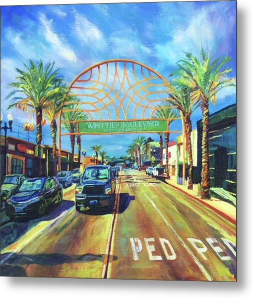 Whittier Arch At Noon Metal Print