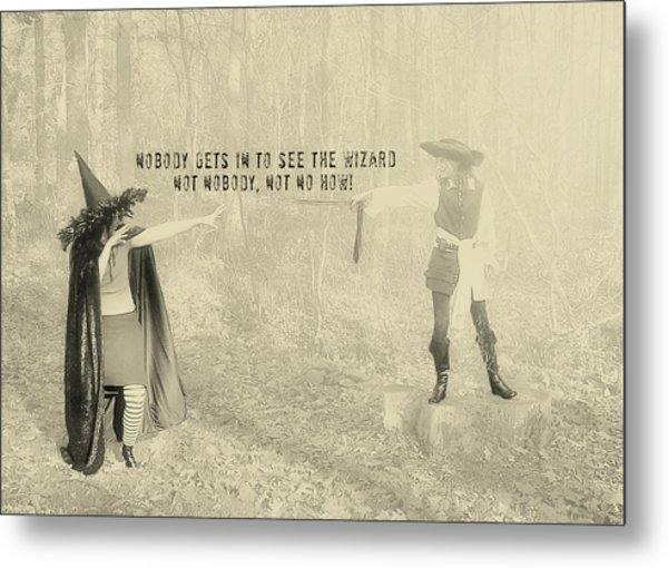 Wicked Quote Metal Print by JAMART Photography