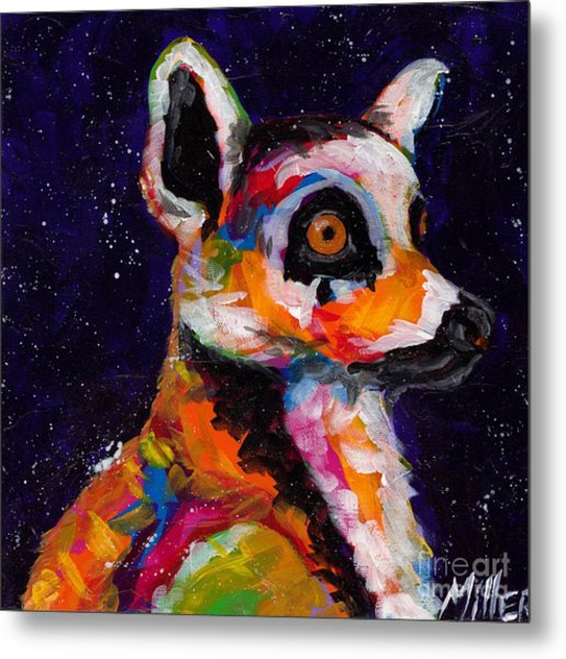 Wide Eyed And Bushy Tailed Metal Print