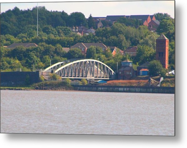 Wigg Island Swingbridge Metal Print