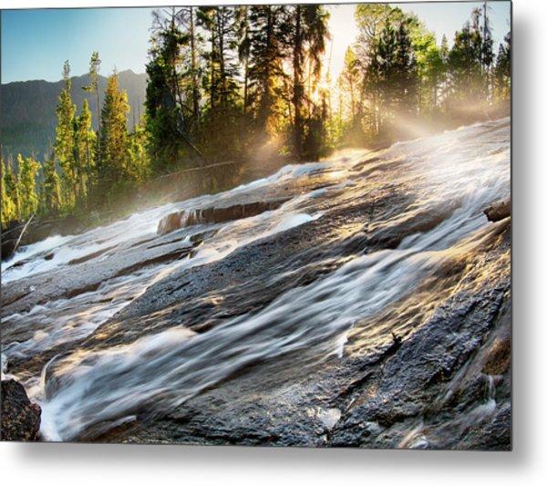 Wilderness River Metal Print by Leland D Howard