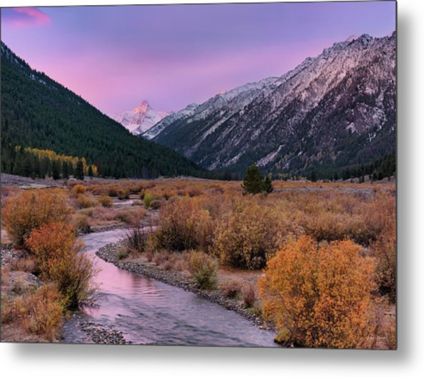 Wildhorse Creek Autumn Sunrise Metal Print by Leland D Howard