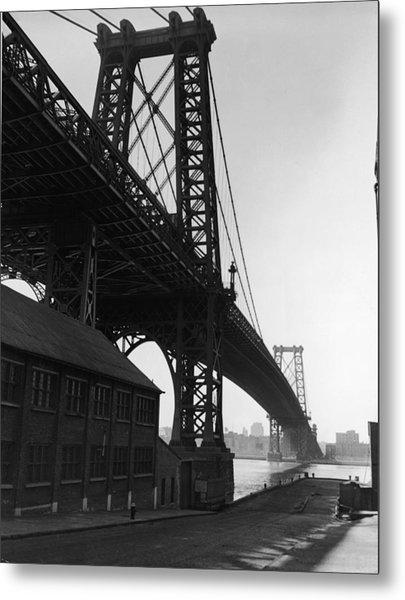 Williamsburg Bridge Metal Print by Frederic Lewis