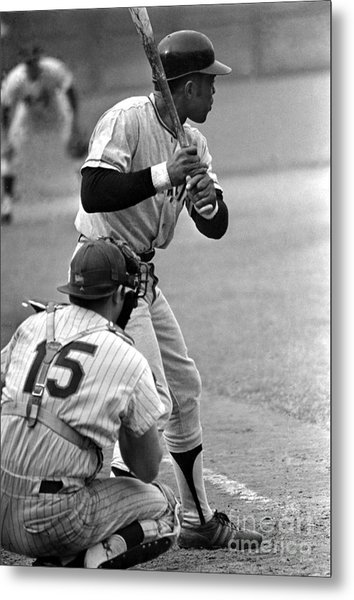 Willie Mays Of The San Francisco Giants Metal Print