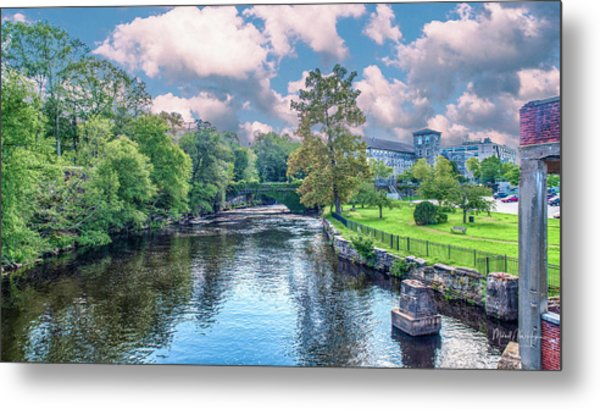 Willimantic River With Clouds Metal Print