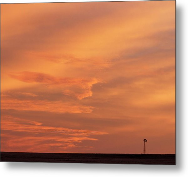 Metal Print featuring the photograph Windmill And Afterglow 02 by Rob Graham