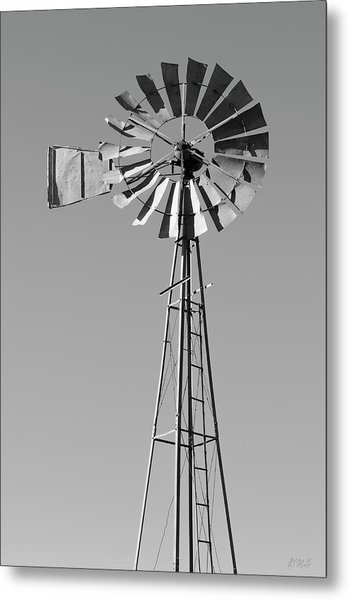 Metal Print featuring the photograph Windmill IIi Bw by David Gordon
