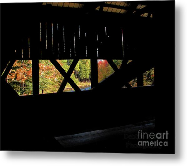 Window To Fall Metal Print