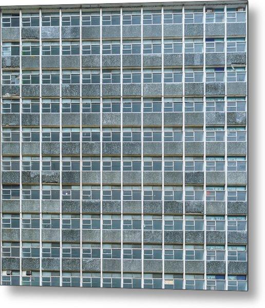 Metal Print featuring the photograph Windows Pattern Modern Architecture by Jacek Wojnarowski