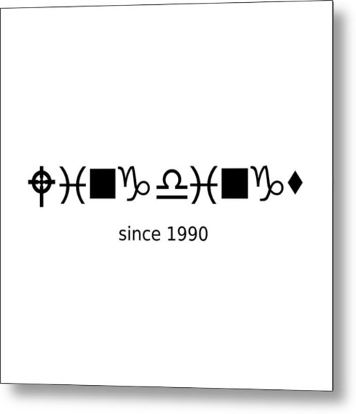 Wingdings Since 1990 - Black Metal Print