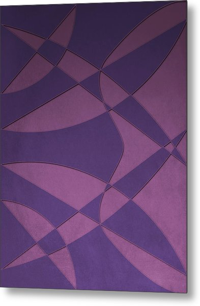 Wings And Sails - Purple And Pink Metal Print