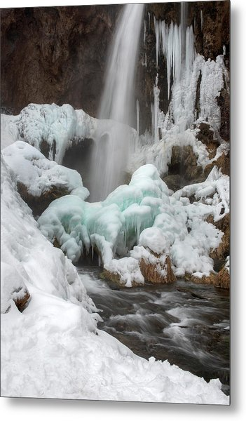 Metal Print featuring the photograph Winter At Rifle Falls Colorado by Angela Moyer