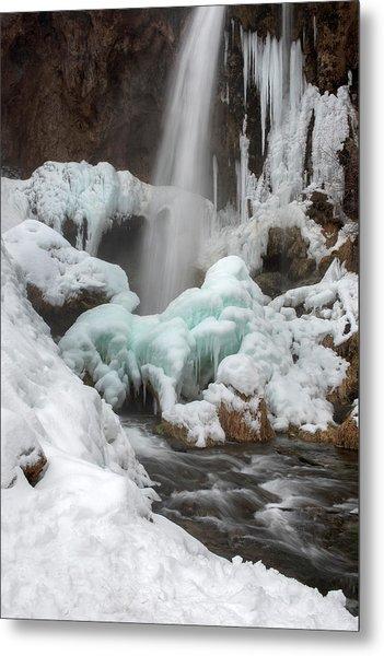 Winter At Rifle Falls Colorado Metal Print