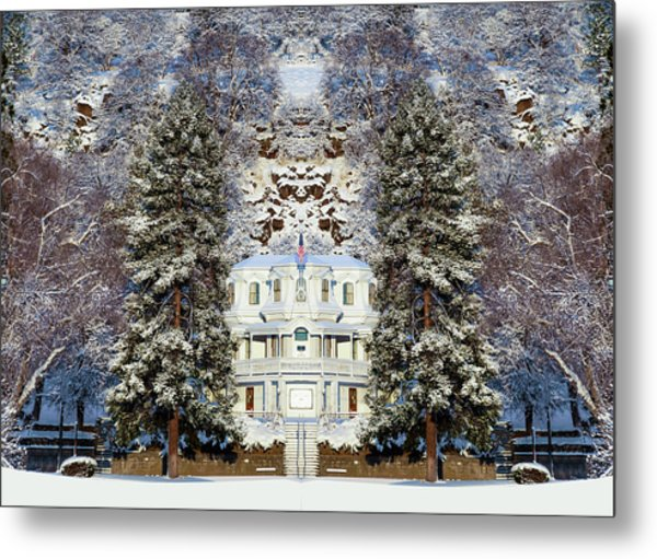 Winter At The Susanville Elks Lodge Metal Print