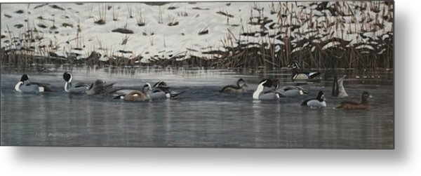 Winter Flock Metal Print