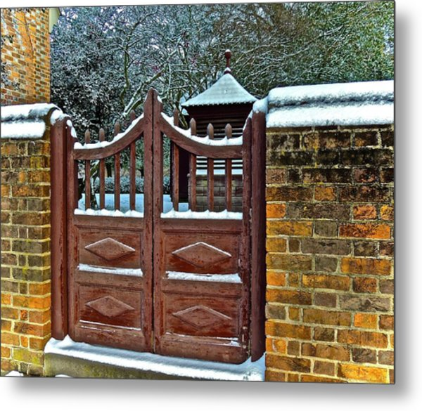 Winter Gate Metal Print