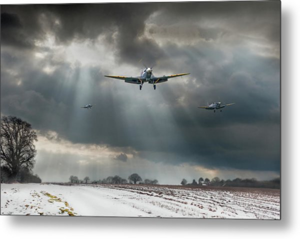 Metal Print featuring the photograph Winter Homecoming by Gary Eason