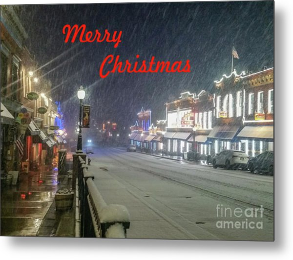 Winter In Cripple Creek - Co Merry Christmas Metal Print