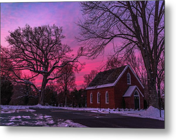 Metal Print featuring the photograph Winter Sunrise by Lori Coleman