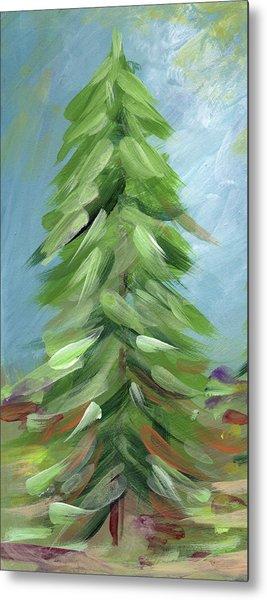Winter Tree- Expressionist Art By Linda Woods Metal Print