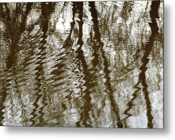 Winter Water Reflection - 5059-19 Metal Print