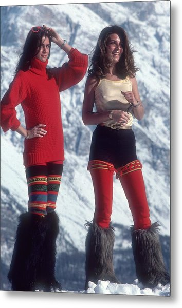 Winter Wear Metal Print by Slim Aarons