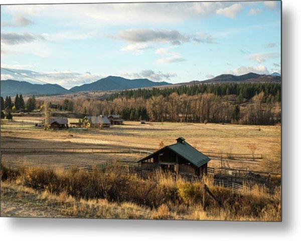 Winthrop Morning Pastures Metal Print