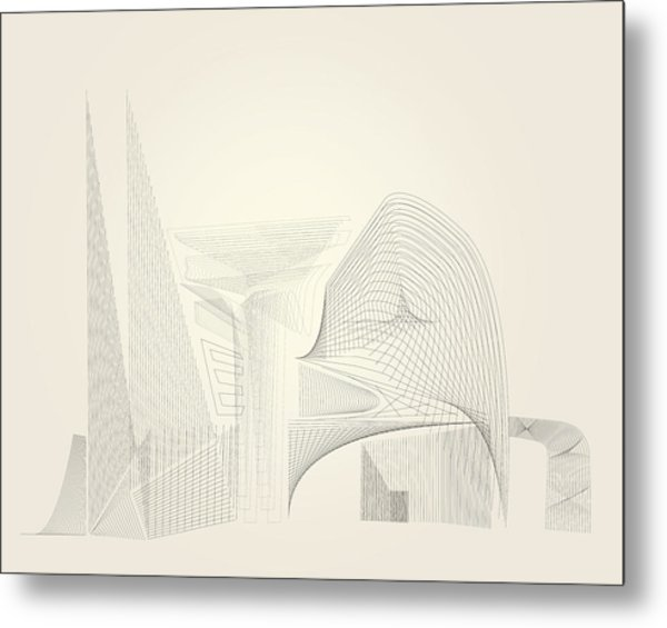 Wire Folly Complex Metal Print